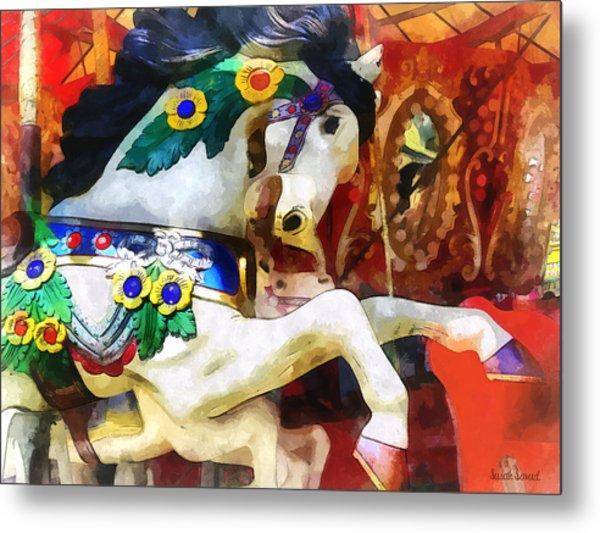Carousel Horse Closeup Metal Print