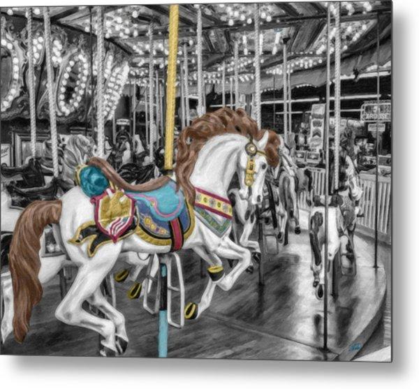 Carousel Horse Equ168125 Metal Print