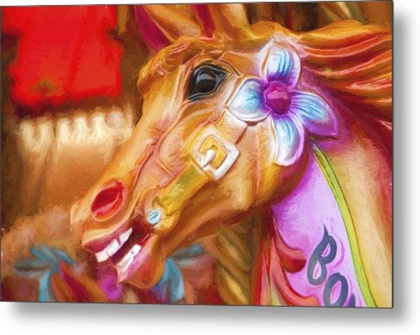 Carousel Horse. Metal Print