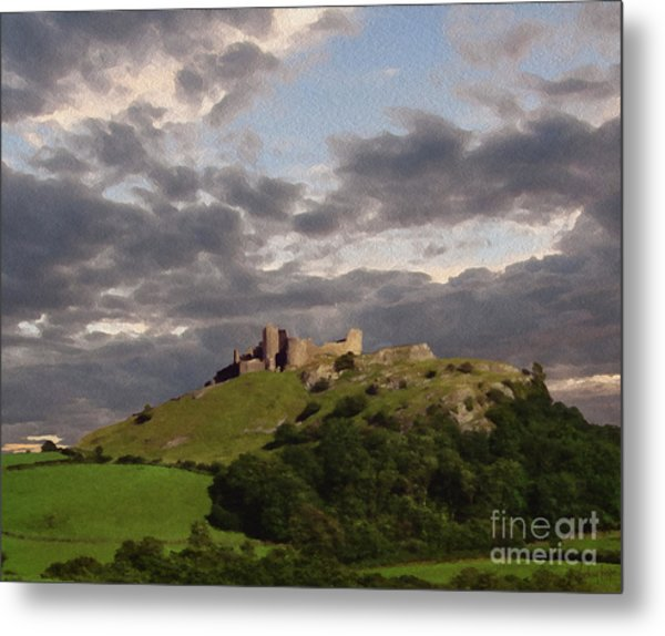 Carreg Cennen Castle North Face Metal Print by Anthony Forster