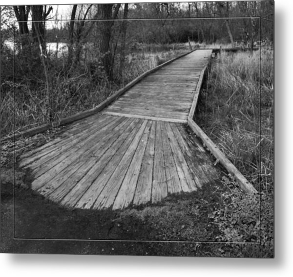 Carriage Hill Boardwalk B Metal Print
