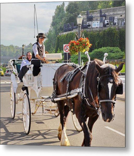 Carriage Ride Down River Road Metal Print