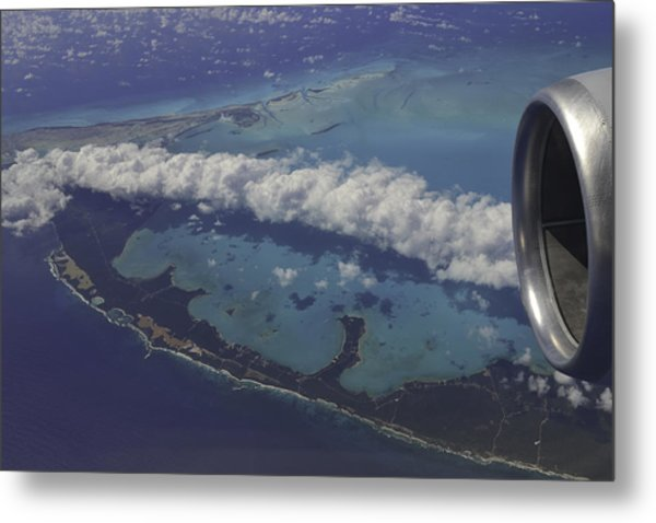 Carribbean Aerial 2 Metal Print