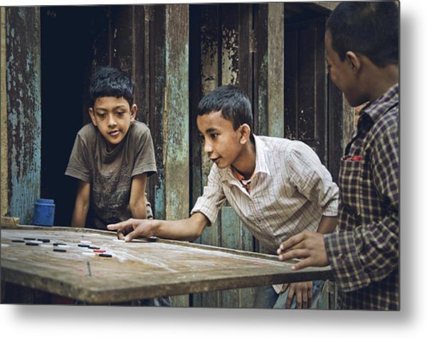 Carrom Boys Metal Print