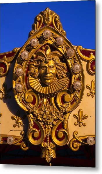 Carrousel Ride Gold Face Metal Print