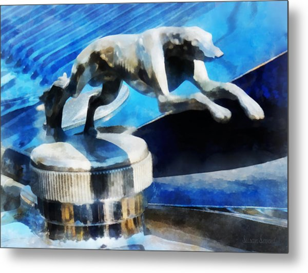 Cars - Lincoln Greyhound Hood Ornament Metal Print