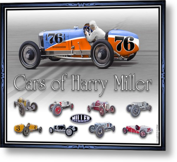 Cars Of Harry Miller Metal Print