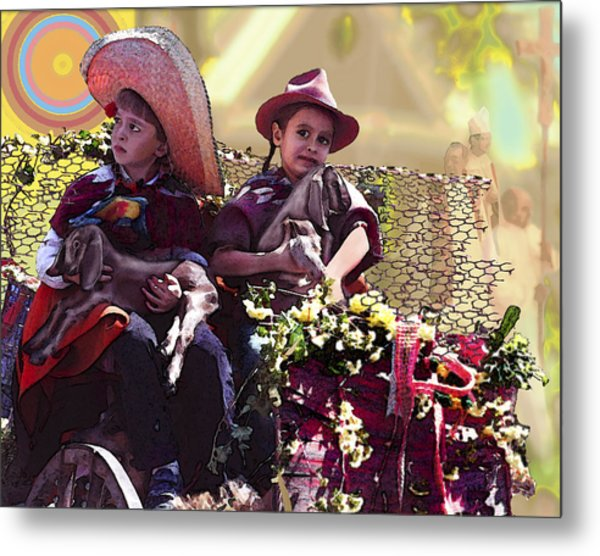 Cart Boys Metal Print