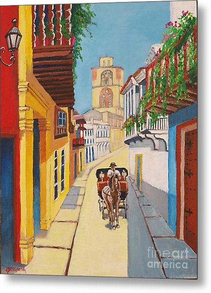 Cartagena's Calash Metal Print