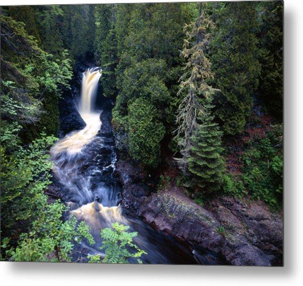 Cascade River Lower Falls Metal Print by Tim Hawkins