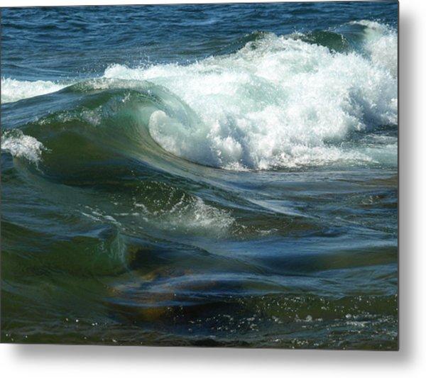 Cascade Wave Metal Print