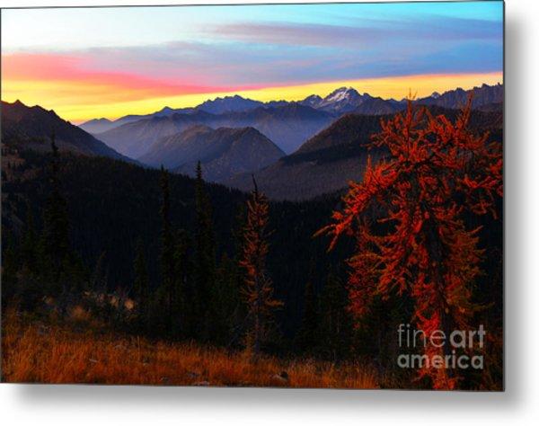 Cascades Sunrise Metal Print