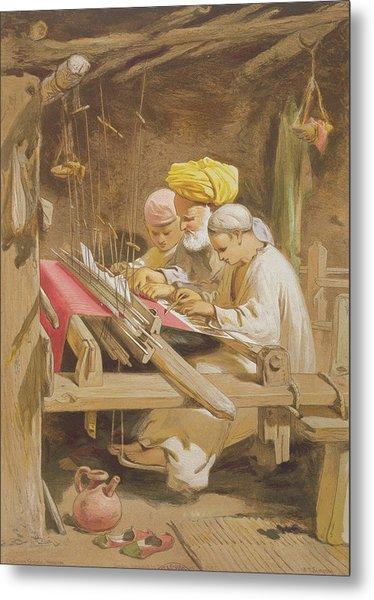 Cashmere Shawls Weaving, 1863 Metal Print