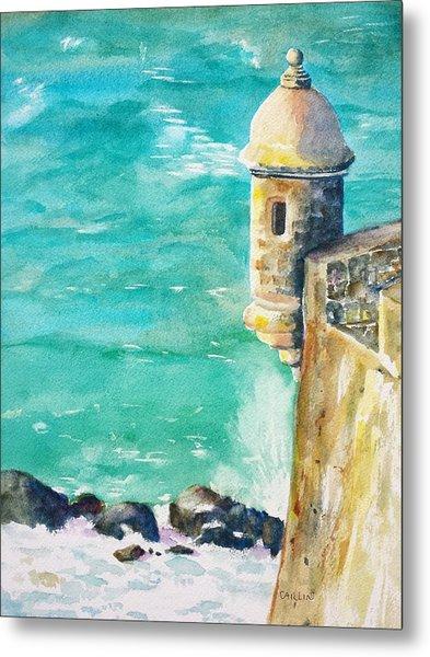 Castillo De San Cristobal Ocean Sentry  Metal Print