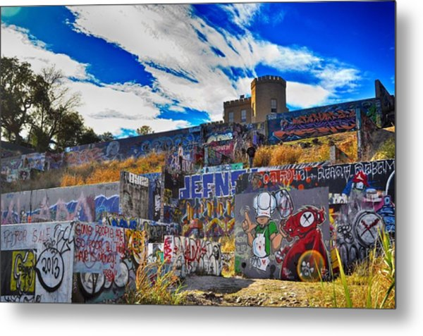 Castle Graffiti Art Metal Print