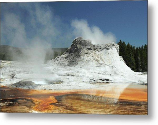Castle Geyser, Yellowstone National Metal Print