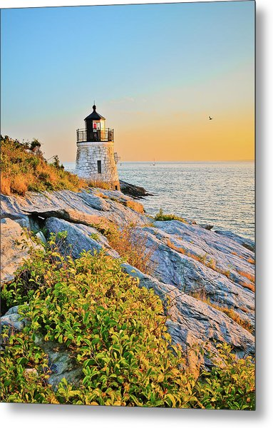 Castle Hill Lighthouse 1 Newport Metal Print