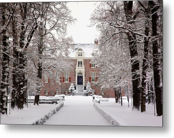 Castle In Winter Dress  Metal Print