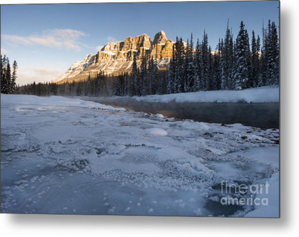 Castle Mountain Sunrise Metal Print by Ginevre Smith