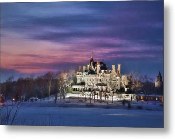 Castle Sunset Metal Print