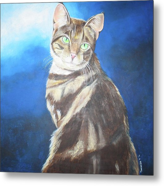 Cat Profile Metal Print