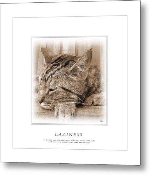 Cat Reflections 2 Metal Print