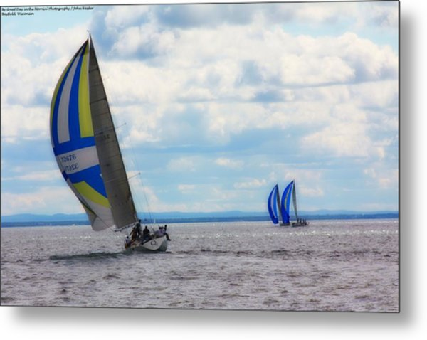 Catching The Wind Metal Print by Michelle and John Ressler