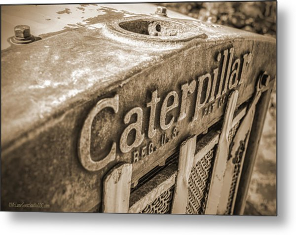 Caterpillar Vintage Metal Print