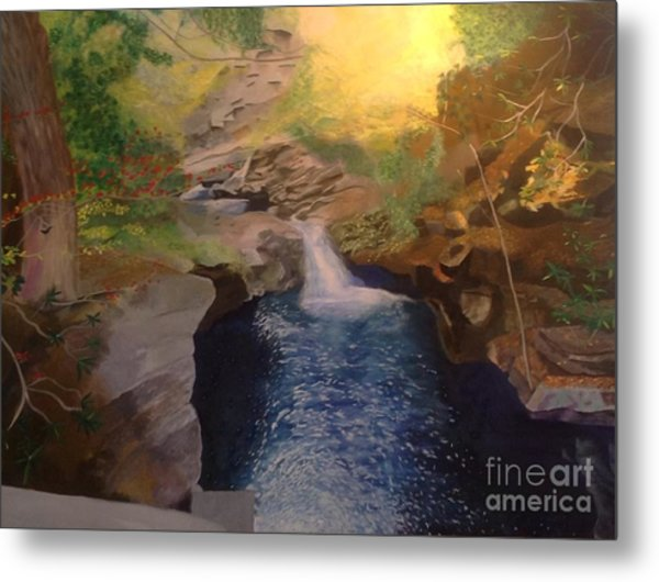 The Dark Gorge Metal Print