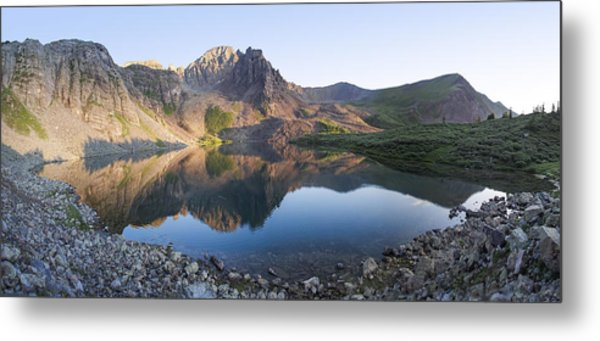 Cathedral Lake Reflection Metal Print