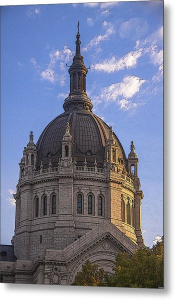 Cathedral Of St. Paul Sunset Metal Print by T C Hoffman
