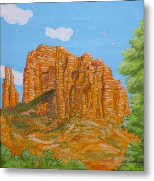 Cathedral Rock Sedona Az Right Metal Print by Carol Sabo