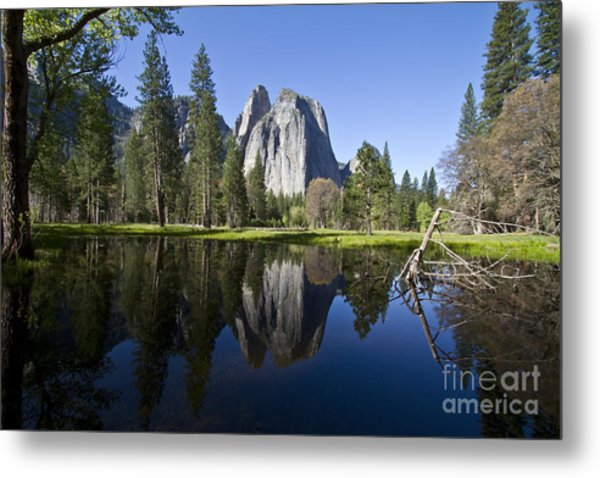 Cathedral Rocks Reflection Metal Print