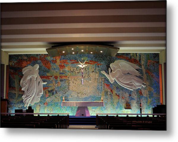 Catholic Chapel At Air Force Academy Metal Print
