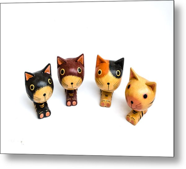 Cats Doll Metal Print by Suntasit Fhakthap