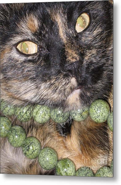 One In A Million... Beauty Of Cat's Eyes. Hello Pearl Collection Metal Print