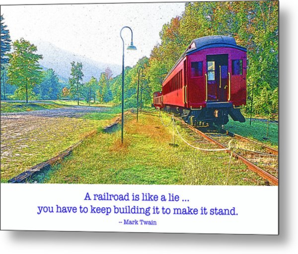 Catskill Mountain Railroad In Autumn Metal Print