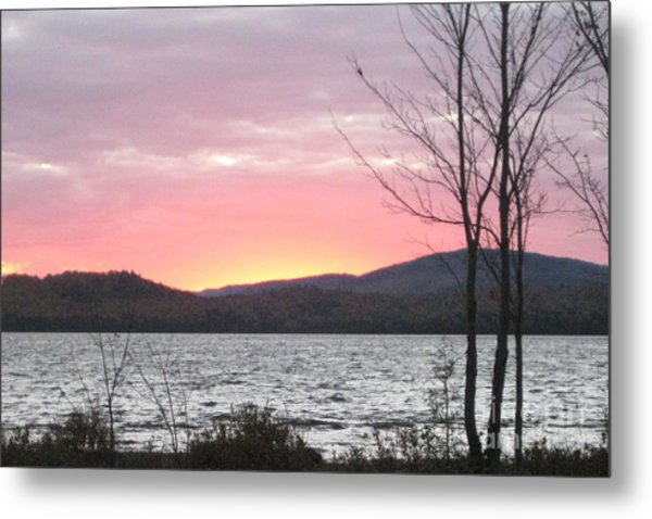 Caucomgomoc Lake Sunset In Maine Metal Print
