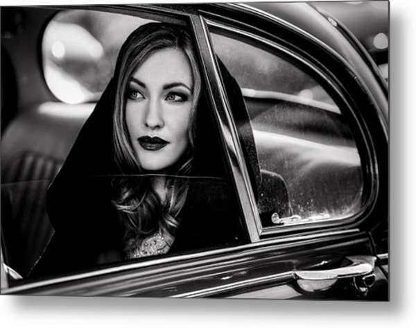 Caught In A Moment Of Absence... Metal Print