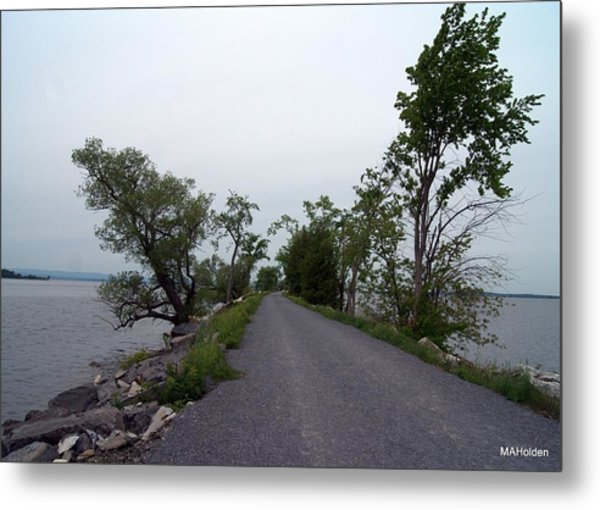 Causeway Between Mills Point And South Hero Vermont Metal Print by Mark Holden