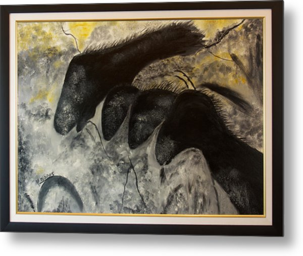 Cave Painting Metal Print by Margaret Pappas