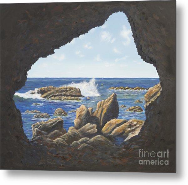 Cave View Metal Print