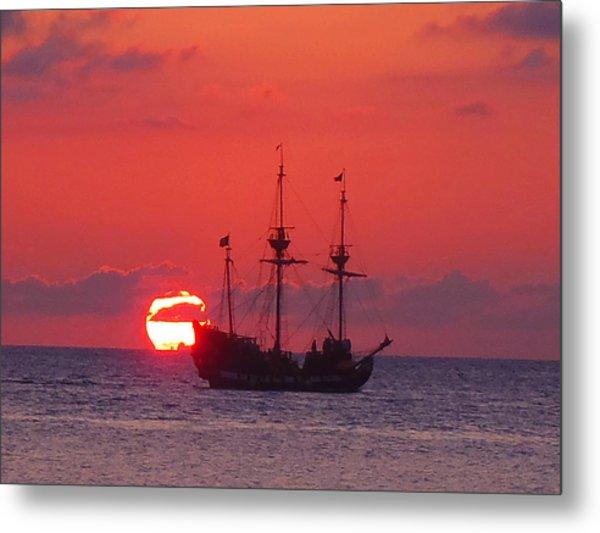 Cayman Sunset Metal Print