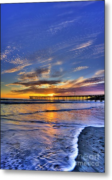 Cayucos Sunset Metal Print