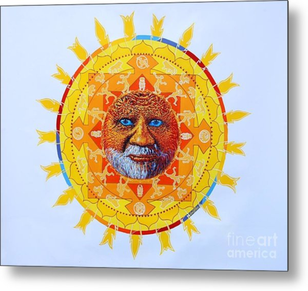 Cbs Sunday Morning Sun Mandala Metal Print