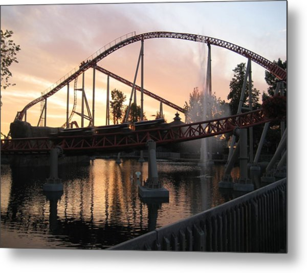 Cedar Point - Maverick - 12123 Metal Print