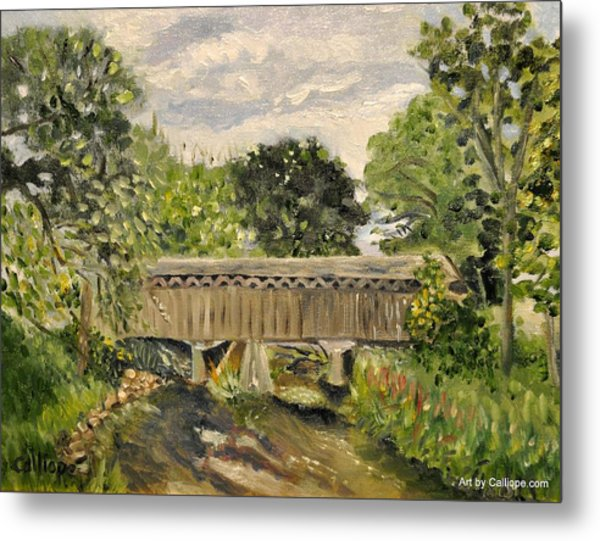 Cedarburg Covered Bridge Metal Print
