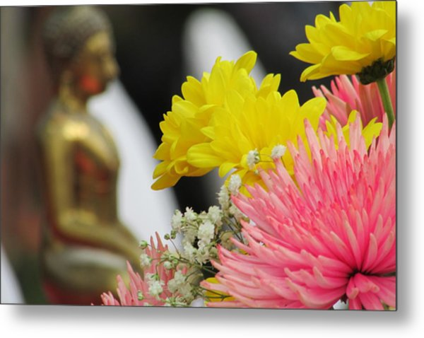 Celebrating The Thai New Year Metal Print