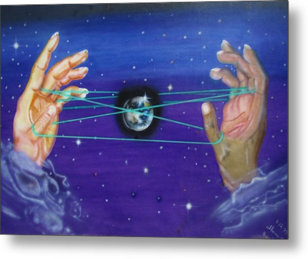 Metal Print featuring the painting Celestial Cats Cradle by Thomas J Herring