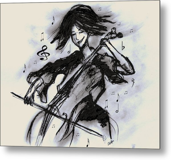 Cello Song Metal Print